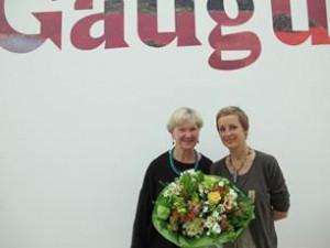 Regula Schenk, Kunsttherapeutin aus Rüti, die die Ausstellung mit ihrer Freundin Ursula Baumann