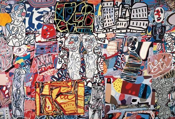 Jean Dubuffet Mêle moments, 1976 Acryl auf Papier auf Leinwand aufgezogen, 248,9 x 360,7 cm Private Collection © 2015, ProLitteris, Zürich Foto: Courtesy Pace Gallery Druckbare Bildgrösse ca.: 20 x 30 cm