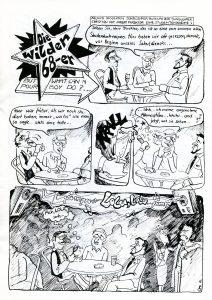 Die wilden 68er - Mario Kramp 1982 für das Comic-Heft Hinterland