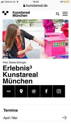 Screenshot der Landing-Page auf einem Smartphone Foto: Bayerische Staatsgemäldesammlungen