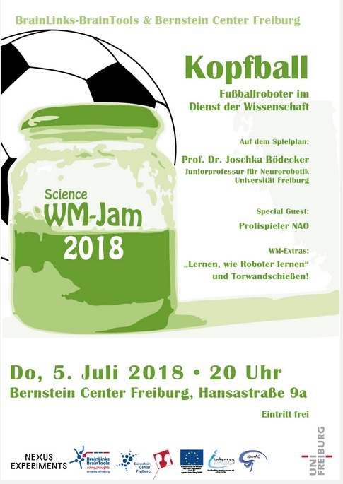 Foto des Plakates Science WM Jam Kopfball