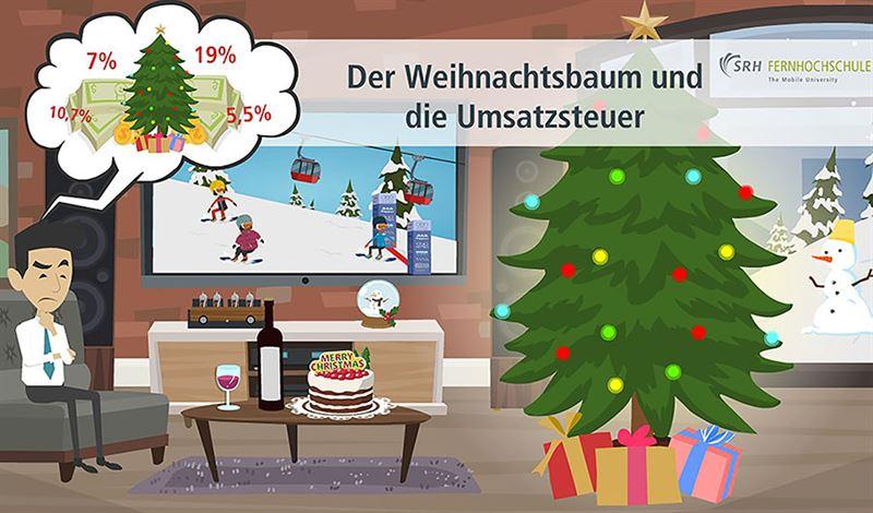 Der Weihnachtsbaum und seine vier Steuersätze ©SRH Fernhochschule