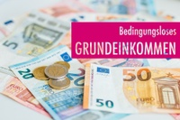 Foto von Sandra Meyndt, Uni Freiubrg. Geldscheine zum bedingungslosen Grundeinkommen