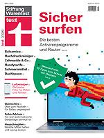Cover der Zeitschrift test vom März 2020 - Sicher surfen