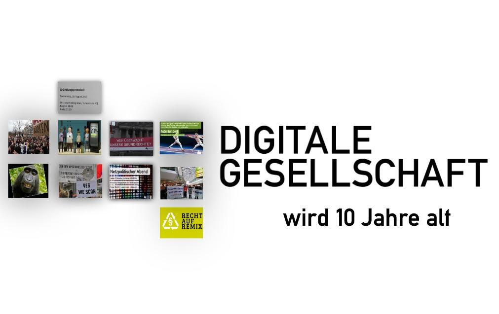 Jubiläums-Logo der Digitalen Gesellschaft