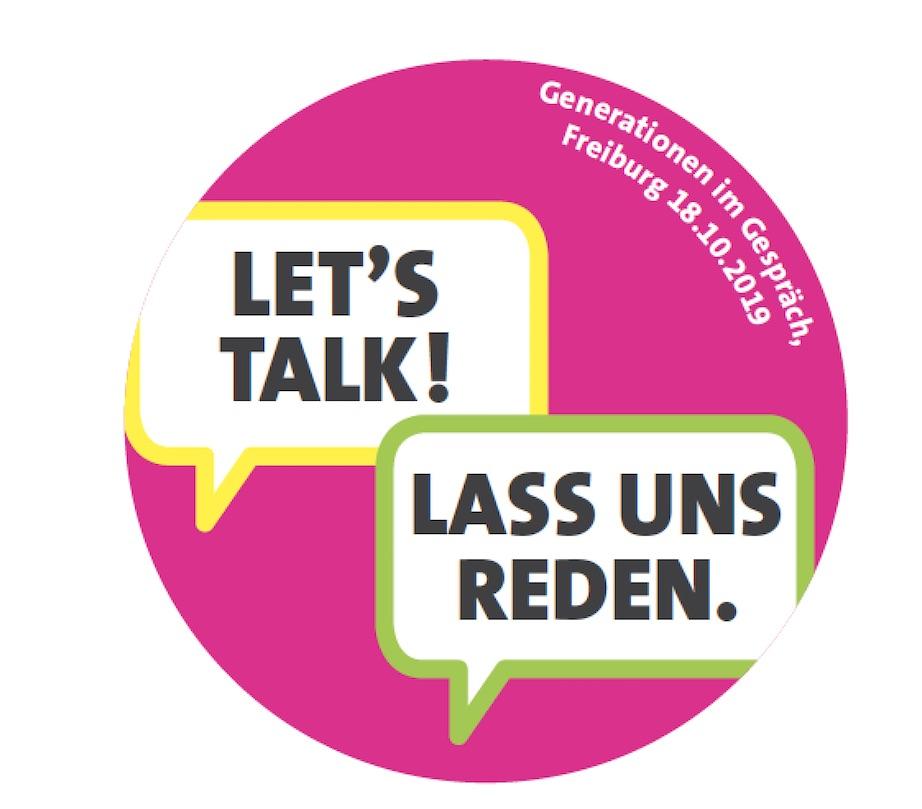 Button: Let's talk - Lass uns reden
