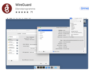 Screenshot von WireGuard